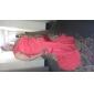 Trompetă / Sirenă Pe Umăr Mătura / Trenă Șifon Seară Formală Bal Militar Rochie cu Detalii Perlă de TS Couture®