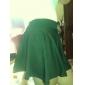 bomboane de culoare talie elastic mini rochie plisată pentru femei
