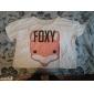 Femei Cute Fox model scurt T Shirt