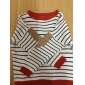 Femei guler rotund Fashion Stripe maneca lunga pulover