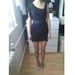 Femei pantă umăr plisată Mini rochie ciufulit