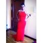 Coloană / Teacă Halter Mătura / Trenă Tricot Seară Formală Rochie cu Detalii Cristal Drapat de TS Couture®