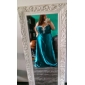 A-line printesa dragoste dragoste podea lungime stretch satin rochie de balet cu cristal de ts couture®