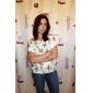 Femei Bluză Casul/Zilnic Simplu(ă),Imprimeu Manșon scurt Vară Subțire