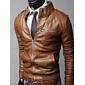 Jachetă Bărbați De Motocicliști În Culoare Slim