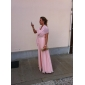 Linia -A Prințesă Fără Bretele In Formă de Inimă Lungime Podea Șifon Seară Formală Rochie cu Detalii Cristal Drapat Cruce de TS Couture®