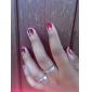 5pcs écran blanc&outil pratique 20 pointe à ongles&gel uv modèle couleur émission de la carte
