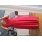 Coloană / Teacă Gât V Lungime Podea Șifon Seară Formală Bal Militar Rochie cu Drapat Ruching de TS Couture®