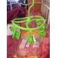 Plastic verde 8 Clipuri Frog zâmbet rotunde Shell mănuși prosoape eșarfă agățat haine PEG