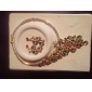 Destul de Phoenix aliaj formă cu stras Set de bijuterii de nunta (inclusiv colier si cercei)