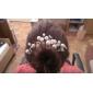 Femei Imitație de Perle Diadema-Nuntă Ocazie specială Ac de Păr 6 Piese
