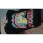 Sheinside® Women's Black Long Sleeve Unicorn Rainbow Print Sweatshirt