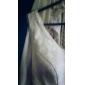 Trompetă / Sirenă Gât V Mătura / Trenă Dantelă Seară Formală Bal Militar Rochie cu Dantelă Pliuri de TS Couture®