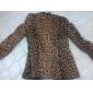 femei leopard print blazer subțire