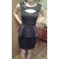 Dulci femei Ruffly solid Culoare Bodycon Dress