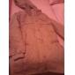 De blană pentru femei Hoodie Buckle Slim Fit Coat