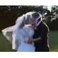 Pe două niveluri Cot nunta Veil cu Baghete
