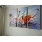 Pictat manual Abstract Orizontal pânză Hang-pictate pictură în ulei Pagina de decorare Trei Panouri