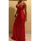 Teaca / Coloana V-gât glezna-lungime Jersey rochie de seară