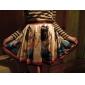 PinkQueen® Women's Spandex Egyptian Art Print Pleated Skirt