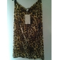 Femei Animal Print Celebrity Leopard Scratch talie mare Zip Cocktail Bodycon Pencil fusta