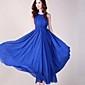 solid de culoare fără mâneci rochie pentru femei sifon maxi cu curea