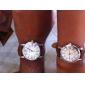 Bărbați Pentru femei Pentru cupluri Ceas La Modă Ceas Elegant  Japoneză Quartz PU Bandă Maro