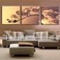 Sträckta canvas konst Blommor Anbud Orchid Set av 3