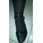 Damă Latin Sală Dans Satin Sandale Toc Îndesat Bronz Șampanie Negru 7cm NePersonalizabili