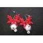 Cercei Picătură Material Textil Animal Shape Cerb Argintiu Rosu Bijuterii Pentru Petrecere Zilnic