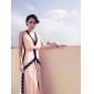 Linia -A Gât V Mătura / Trenă Georget Seară Formală Bal Militar Gală Elegantă Rochie cu Dantelă de TS Couture®