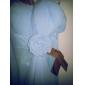 Coloană / Teacă In Formă de Inimă Lungime Podea Șifon Rochie Domnișoară Onoare cu Drapat Flori Voaluri Cascadă de LAN TING BRIDE®