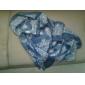 retro albastru și alb eșarfă porțelan sifon femeilor (Color asortate)