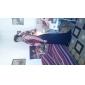Coloană / Teacă Gât V Lungime Podea Tulle Seară Formală Bal Militar Rochie cu Pliuri Cruce de TS Couture®