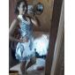 Bali de moda de epocă ștreang sleevless rochie silm floral print