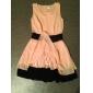 NUO wei si ® culoare de contrast fără mâneci patinator rochie pentru femei