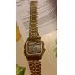 Bărbați Ceas digital Ceas de Mână Piloane de Menținut Carnea Alarmă Calendar Cronograf LCD Aliaj Bandă Auriu