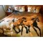3D (model aleatoriu) Poli/Bumbac 4 Piese Seturi Duvet Cover
