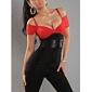 Femei corset curea Midi rochie cu curea