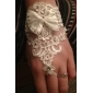 Tulle degete încheietura Lungime petrecere de nunta Glove