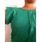 Guler rotund femei șifon bluza fără mâneci