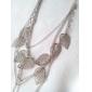 Pentru femei Coliere cu Pandativ Coliere Leaf Shape Aliaj La modă Bohemia Stil Multistratificat Lung costum de bijuterii Bijuterii Pentru