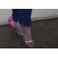 Pantofi pentru femei - Imitație de Piele - Toc Stiletto - Tocuri - Sandale - Rochie - Galbem / Verde / Argintiu
