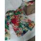 femei floare de imprimare tricou subțire