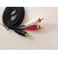 3.5mm audio cablu HDMI la VGA Convertor Component RCA prin cablu Aux cablu pentru adaptor USB pentru MP3 iPod (negru, 1,5 M)