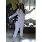 Kigurumi-pyjamas Tiger Onesie Pyjamas Kostym Polär Ull Vit Cosplay För Vuxna Pyjamas med djur Tecknad serie halloween Festival / högtid