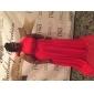 Linia -A Prințesă Gât Înalt Trenă Court Șifon Seară Formală Rochie cu Arc Eșarfă / Panglică Drapat Părți de TS Couture®