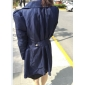 Femei Vintage / Bodycon / Casual Femei Haină Trench Manșon Lung Bumbac
