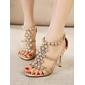 pantofi de femei shimandi sandale curea glezna stilet toc stras pantofi