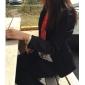 Femei BlazerMată Manșon Lung Primăvară / Toamnă-Negru Mediu